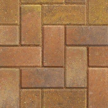 standard block paving bracken